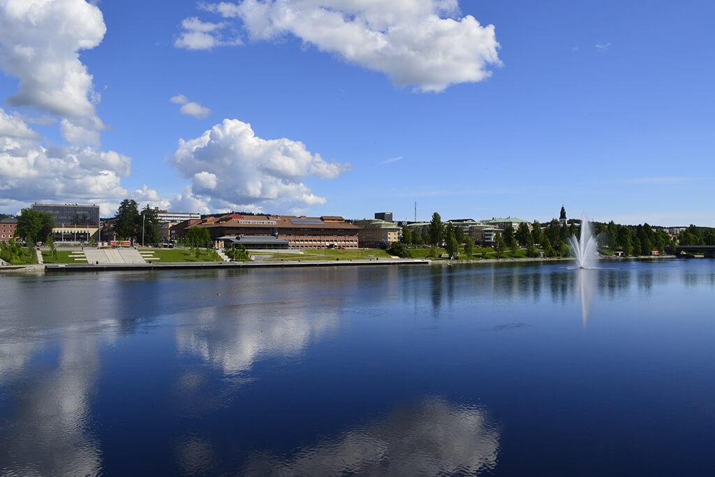 Skellefteå centrum och älven