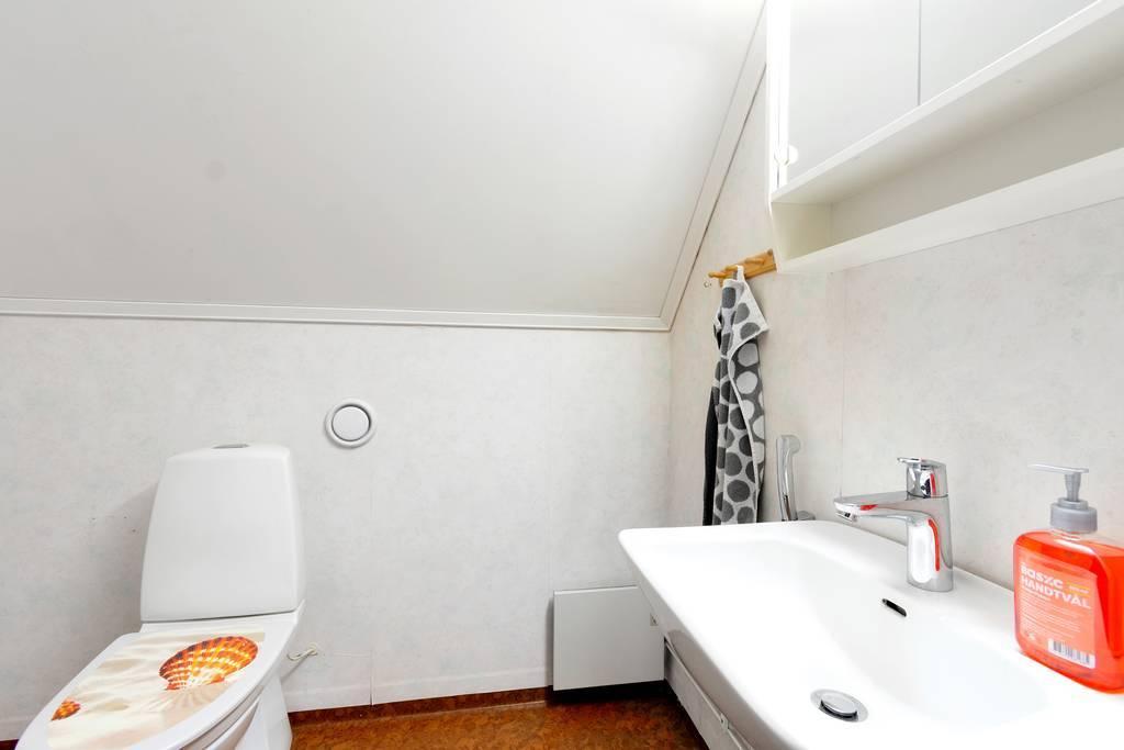 WC på övervåning.