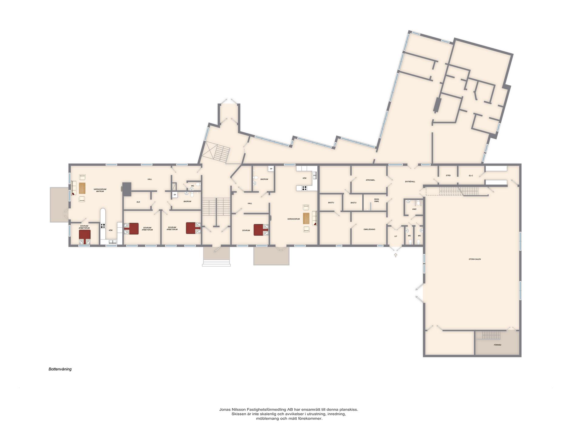 Förslag ombyggnad bottenvåning
