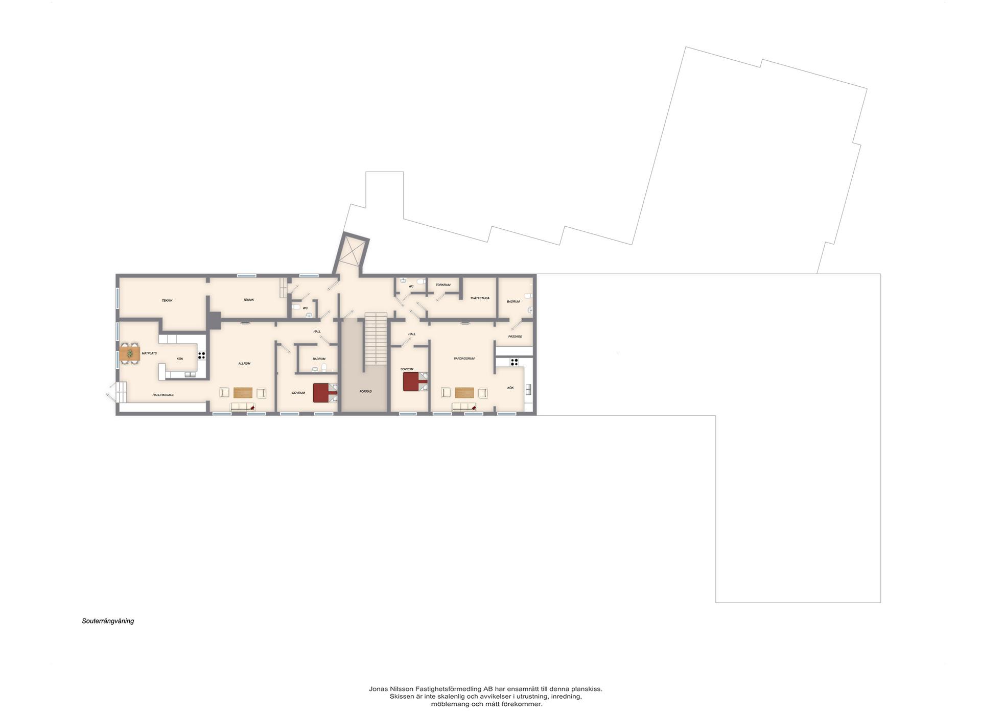 Förslag ombyggnad souterängvåning