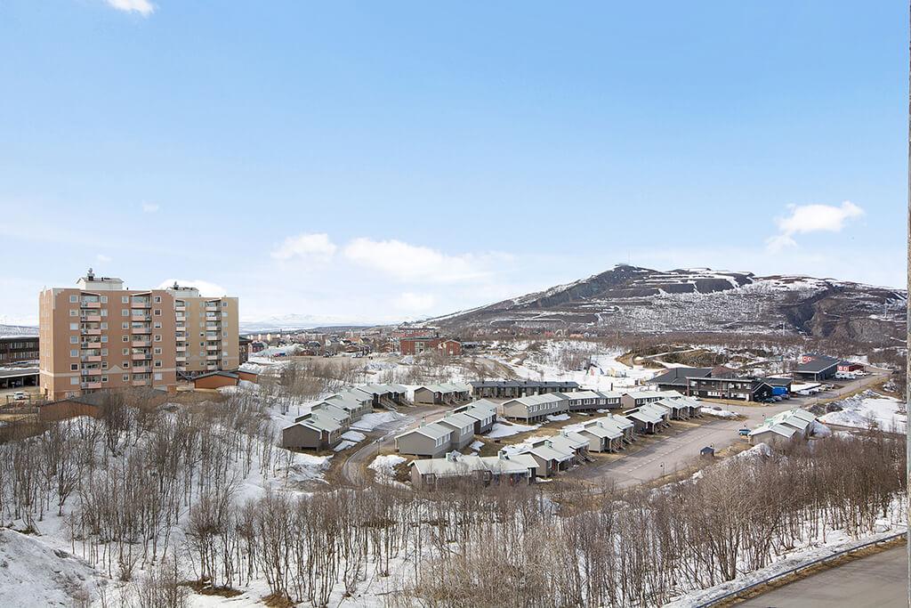 Kiruna. berg och vinter